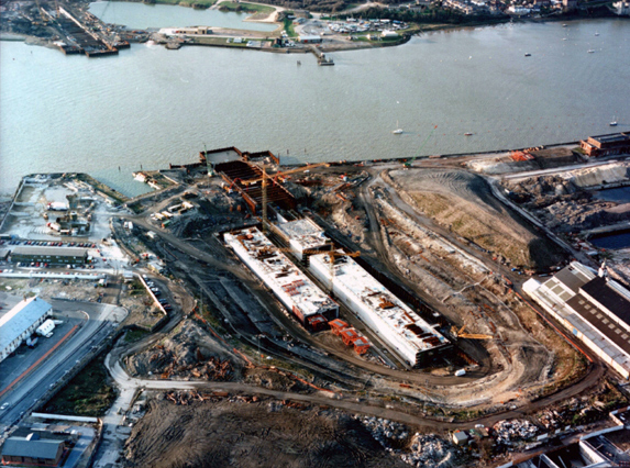 January 1994 Casting Basin on East Bank and Approach Ramp on West Bank