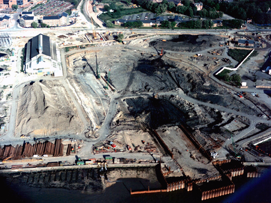 May 1993 Construction of Coffer Dam and Excavation of Casting Basin on East Bank