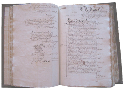 Wardens' account book for 1603-1604