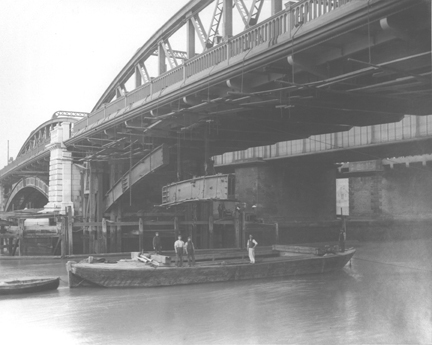 Removal of Cast Iron Arches Below the Rochester Span.