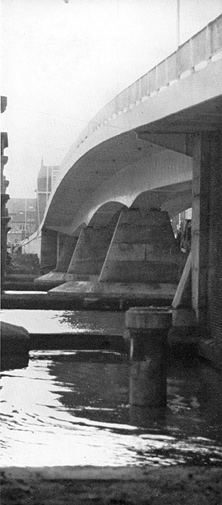 February 1970 Downstream view of the completed bridge.