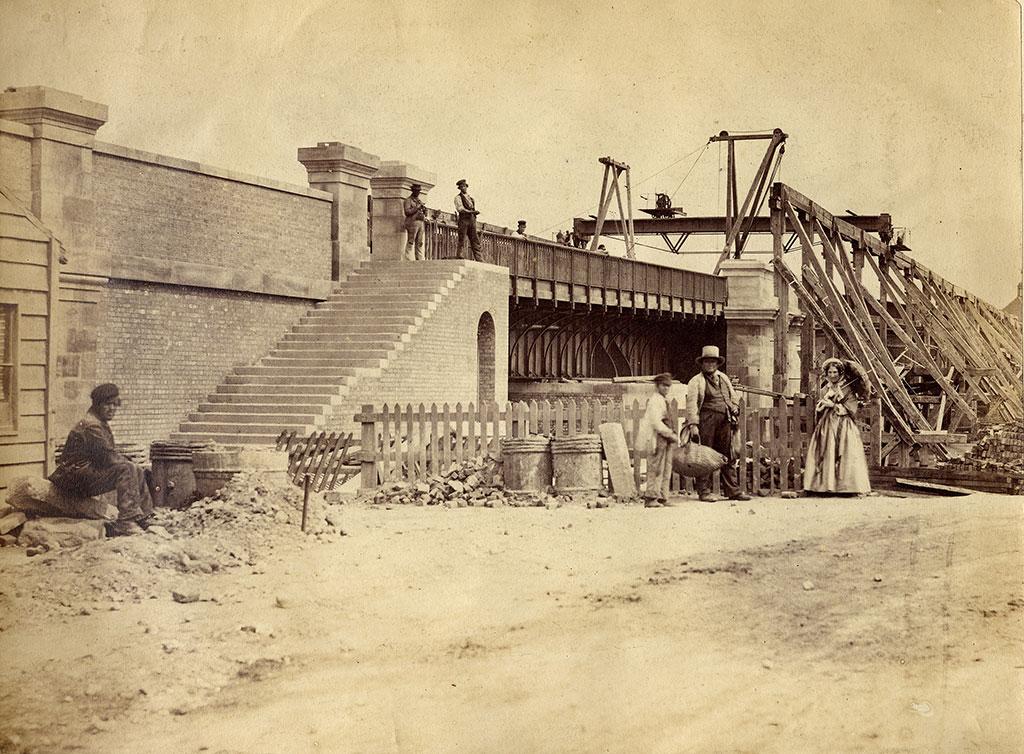 1857 8 RE work to remove Medieval Bridge 1