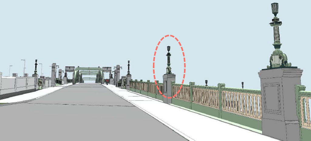 lamp columns 3D 1