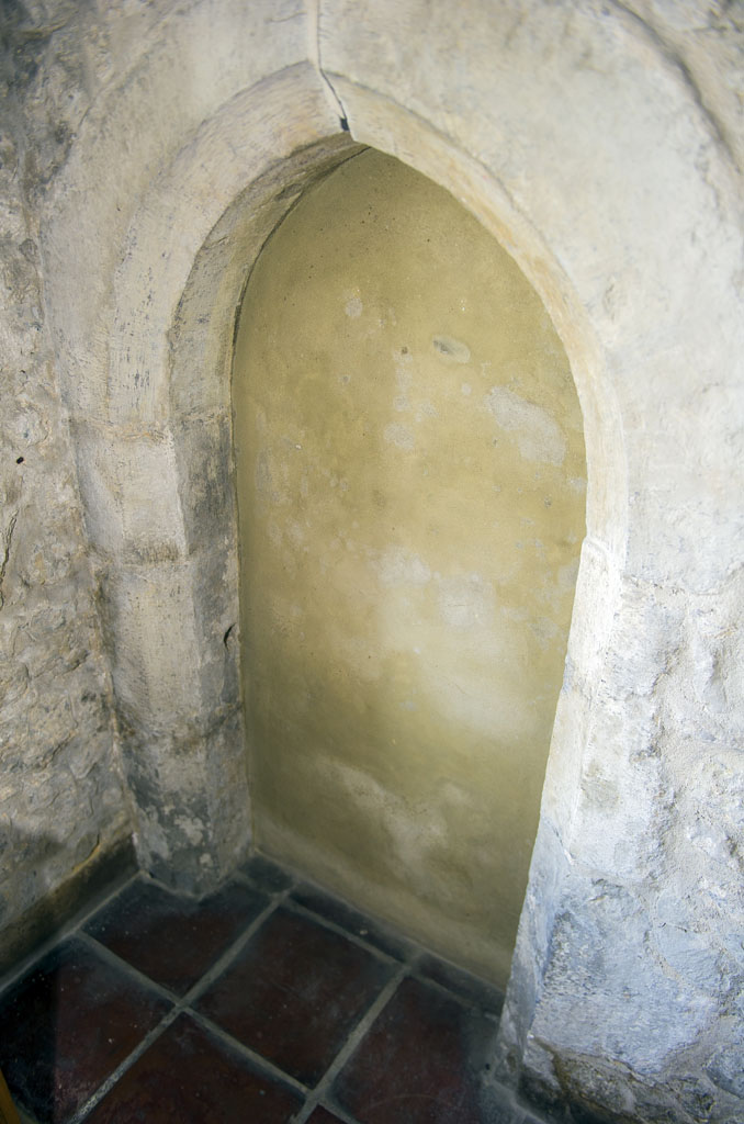 The doorway that would have led to the vice in the clocktower.