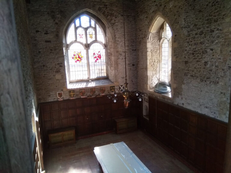 View of the East window from the gallery.