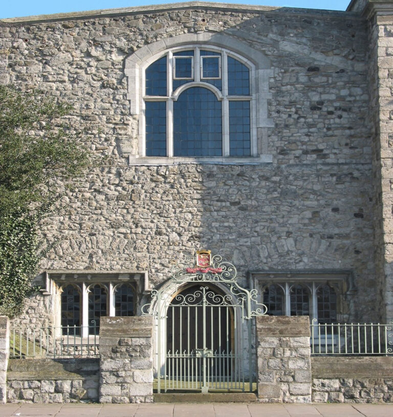 The entrance to the chapel as it looks now, subsequent to its restoration in 1937