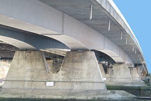 New Bridge showing steel box girders 1