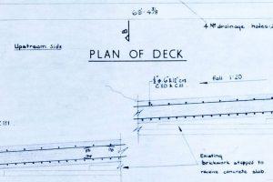Plan of deck